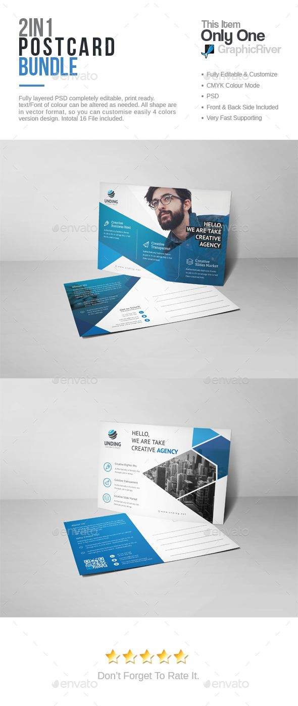 postcard template psd bundle postcard templates pinterest