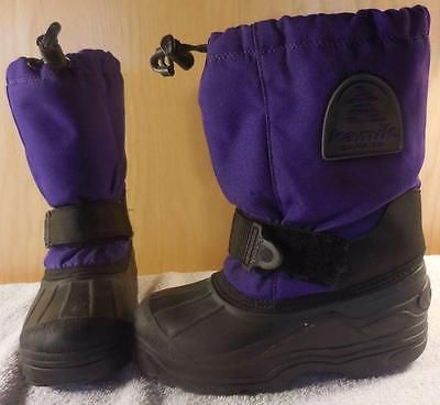 79dd8183d32f KAMIK Wool Lined Youth Child s Kids Purple Snow Winter Boots Shoes ...