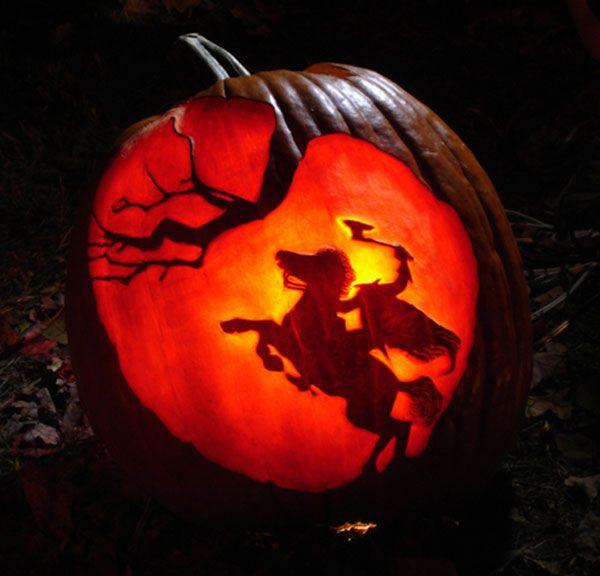 Headless Horseman Pumpkin Carving Pumpkin Carving Amazing Pumpkin Carving Halloween Pumpkins Carvings Designs