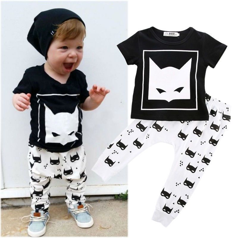 Details about Newborn Infant Kids Baby Boys Batman T-shirt  Pants ...