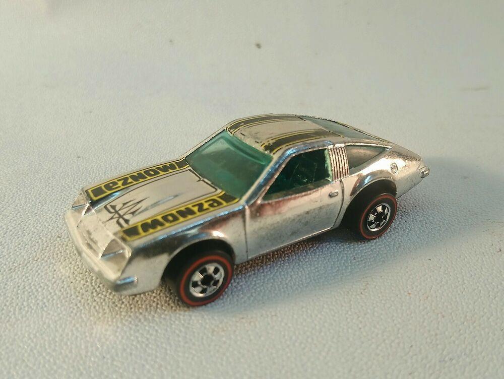 Vintage 1974 Hot Wheels Redline Chevy Monza 2 2 Chrome Mattel Hong