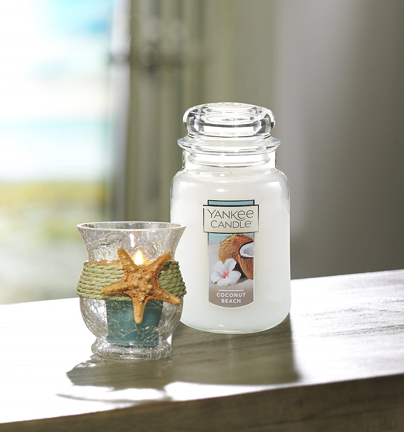 Yankee Candle Large Jar Candle, Coconut Beach (With Images