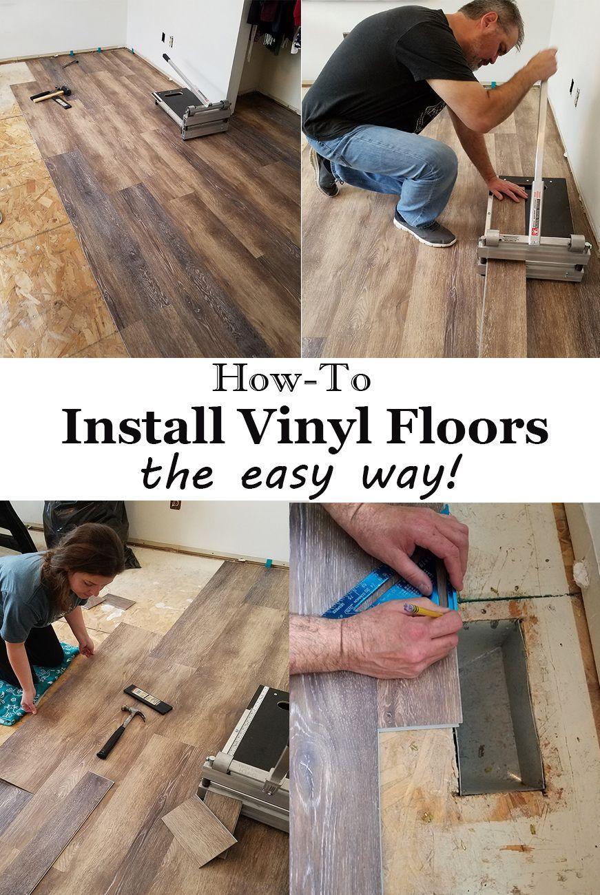 Installing Vinyl Floors A Do It Yourself Guide The Honeycomb Home Vinyl Flooring Installing Vinyl Plank Flooring Diy Flooring