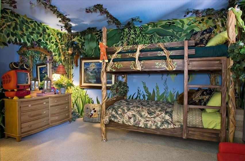 Unique And Fun Kids Bed Ideas Bedrooms Safari Room And Room - Bizarre themed rooms