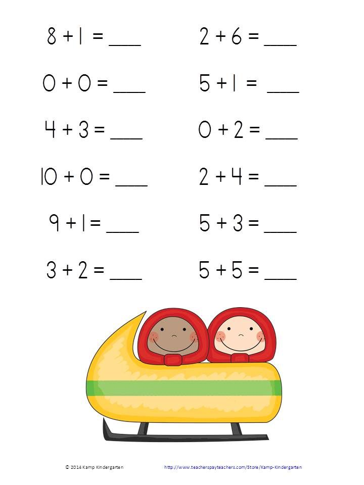 Winter Friends Fun And Games Addition Practice Packet Sums Of 0 To 10 Http Www Teacherspayteacher Kids Learning Activities Math For Kids Grammar For Kids
