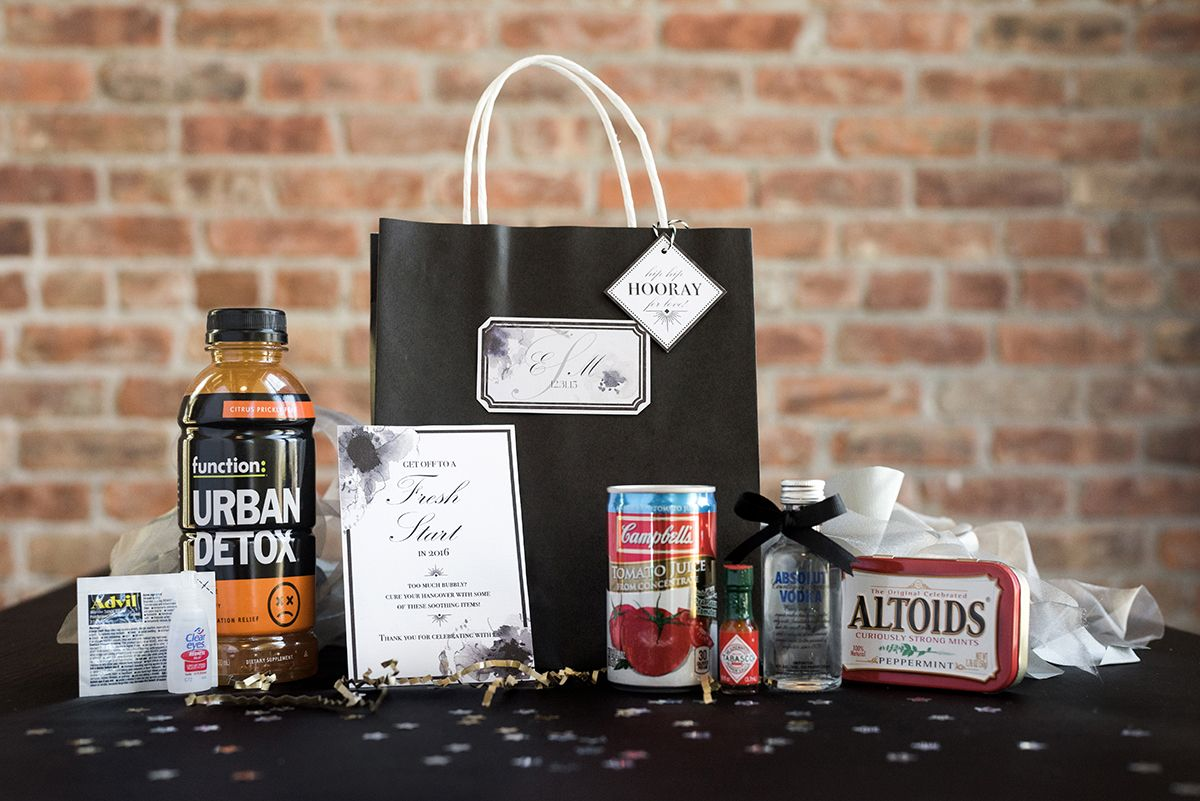 Wedding Hangover kit for your guests bags