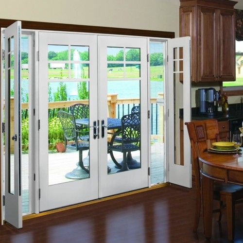 French Patio Doors With Side Screens Hinged Patio Doors French