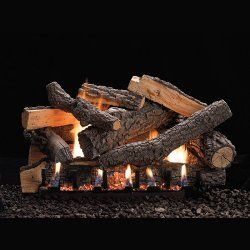 30 ponderosa refractory logs 30 slope glaze vent free burner rh pinterest com