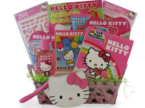 valentine's day gift baskets for kids | Hello Kitty Toiletry Gift Basket Ideal for Christmas Gifts for Girls
