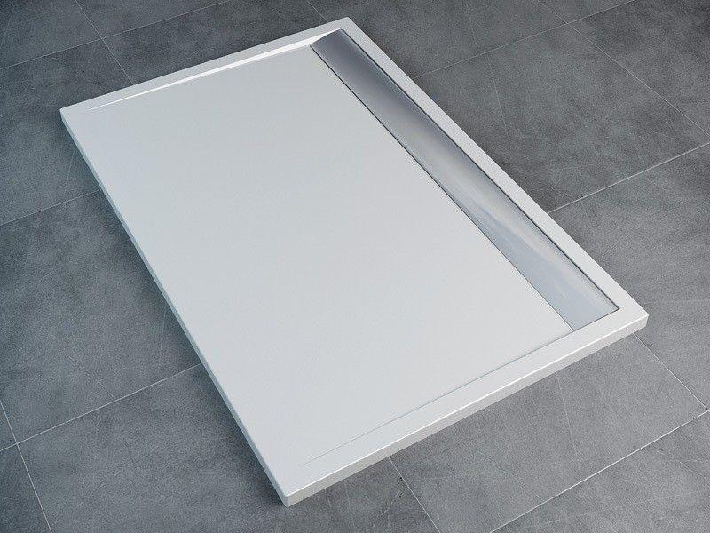 Bodengleiche duschwanne  Mineralguss Duschwanne 160 x 90 x 1,5 cm farbig Wannenhöhe 35 mm ...