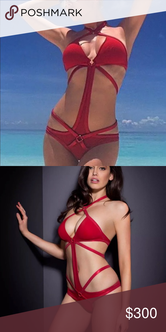 e874c84eef NWT AGENT PROVOCATEUR SHELBY SWIMSUIT RED AP4 L All of my items come new  with tags