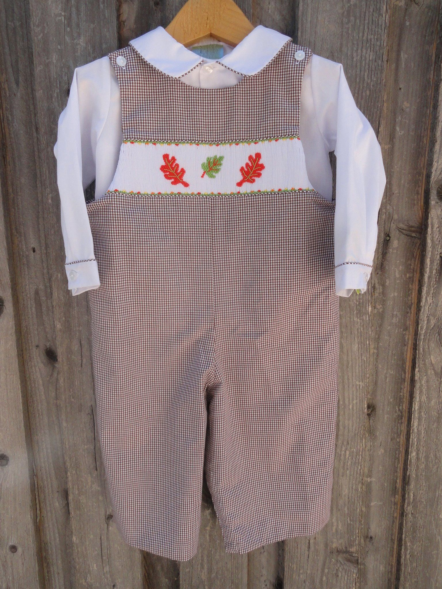 74859a4b5a5 Fall Leaves Smocked Longall from Smocked Auctions