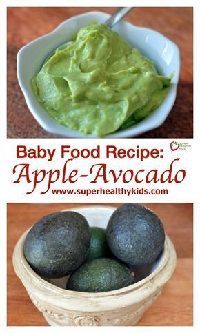 Baby Food Recipe Apple Avocado Baby Food So Creamy And Perfect As
