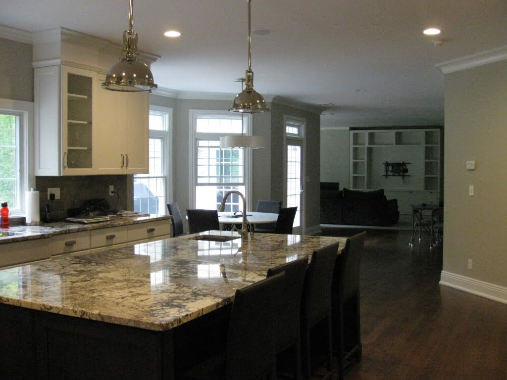 Best White Dark Cabinets Paint Revere Pewter Love The 400 x 300