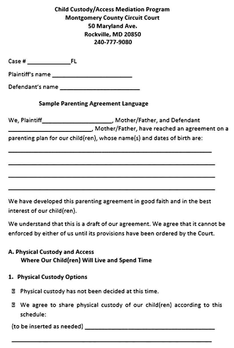 Free Printable Child Guardianship Forms Elegant Is Free Printable Custody Agreement Child Custody Custody