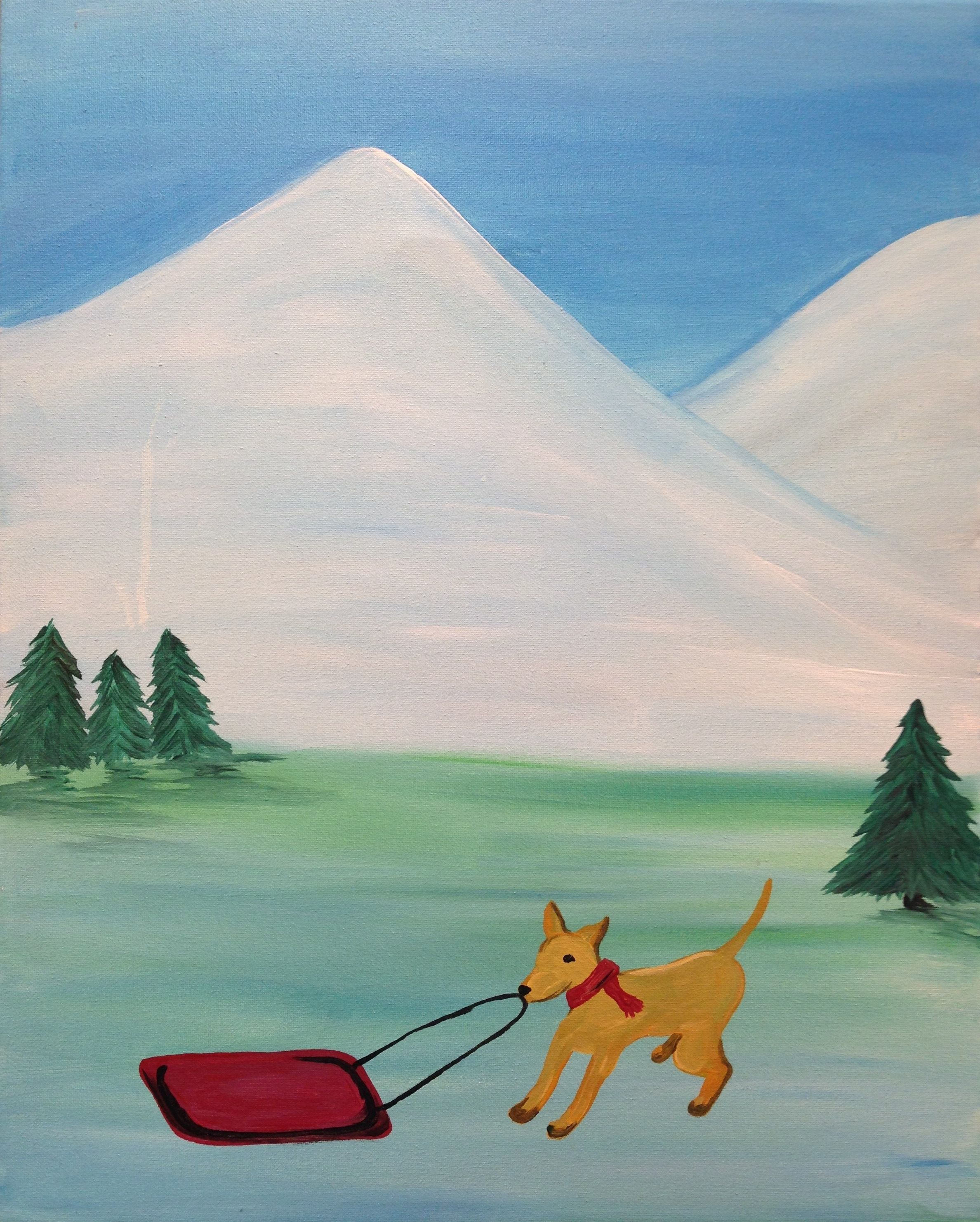 Check Out This Adorable Winter Themed Dog Painting We Will Be