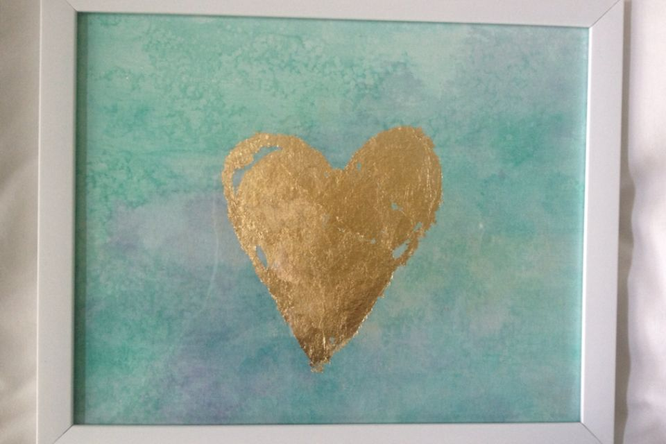 Diy Watercolor Gold Leaf Art Inspiration Diy Watercolor Art