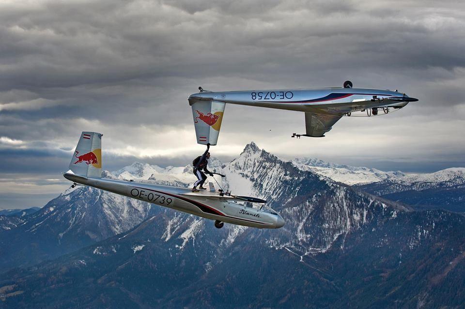 Paul Steiner Red Bull Skydive Team Fear of flying, Plane