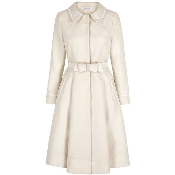 Classic-Wool-Fifties-Coat-Cream (€1.500) ❤ liked on Polyvore ...