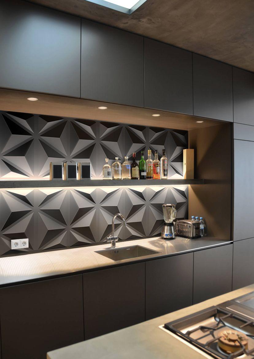 3d Panels Kitchen Decoration Modern Kitchen Kitchen Ideas Wall Decoration Home Decoration Mi Home Decor Kitchen Modern Kitchen Design Kitchen Room Design