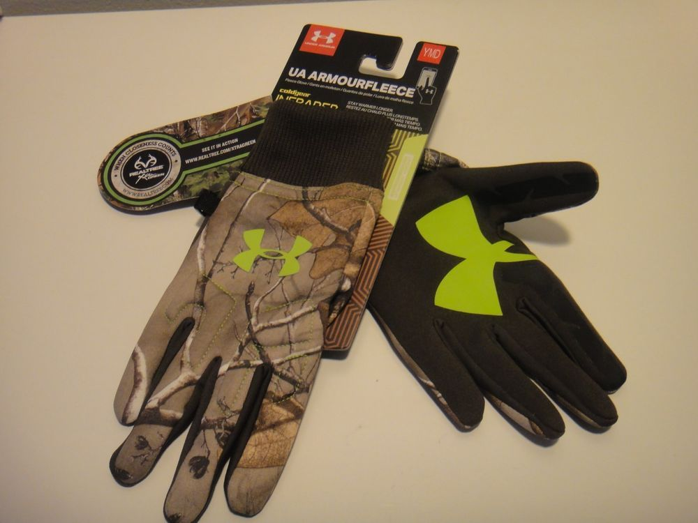 e8cdb8ece1cee Under Armour & Realtree Camo Fleece Gloves Infrared Size Boys Youth / MD # Underarmour #FullFinger