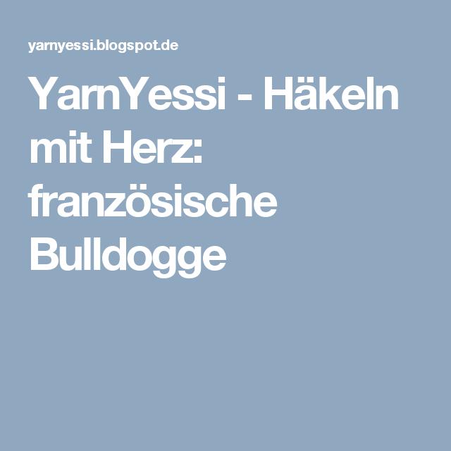 Yarnyessi Häkeln Mit Herz Französische Bulldogge Amigurumi