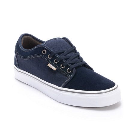 Vans Chukka Low Navy, White & Warm Grey Skate Shoes | Sky's