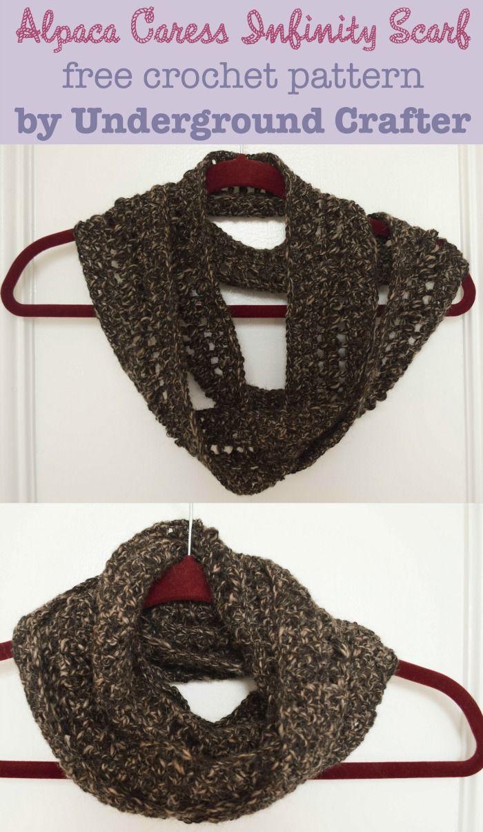 Alpaca Caress Infinity Scarf, free crochet pattern | Free crochet ...