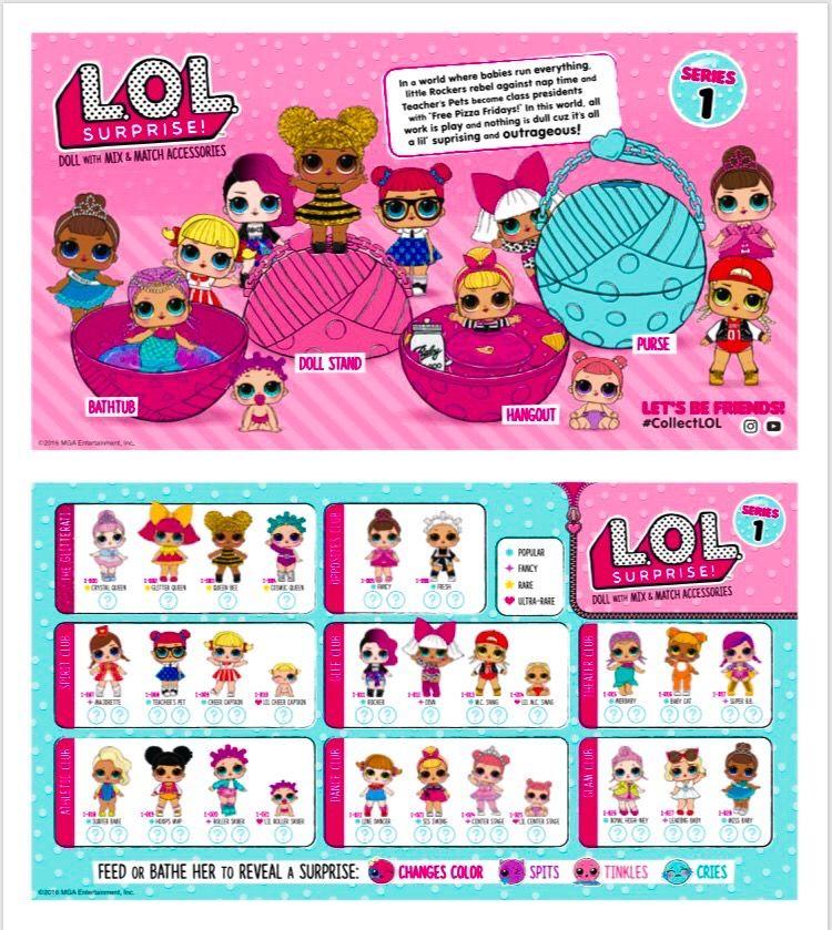 Lol Tots Series 1 Complete Check It Out Peanuts Comics Comics Art