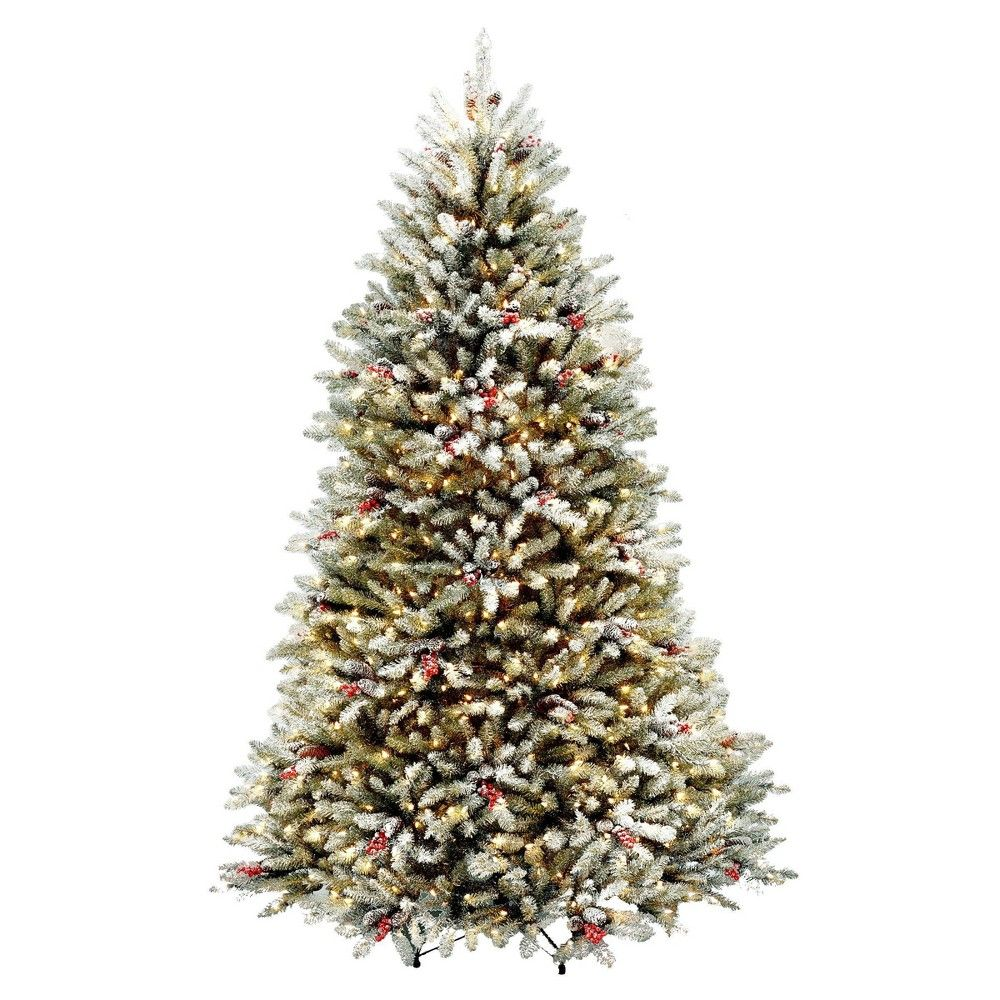 National Tree Company 7 5ft Pre Lit Dunhill Fir Hinged Full Artificial Tree With Artificial Christmas Tree Pre Decorated Christmas Tree Pre Lit Christmas Tree