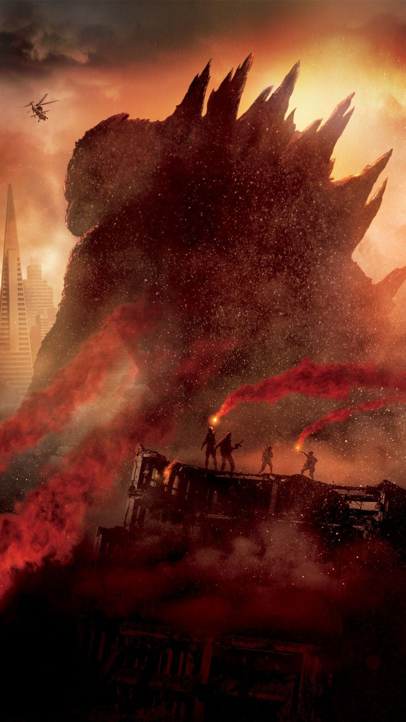 Godzilla (2014) Phone Wallpaper Best movie posters