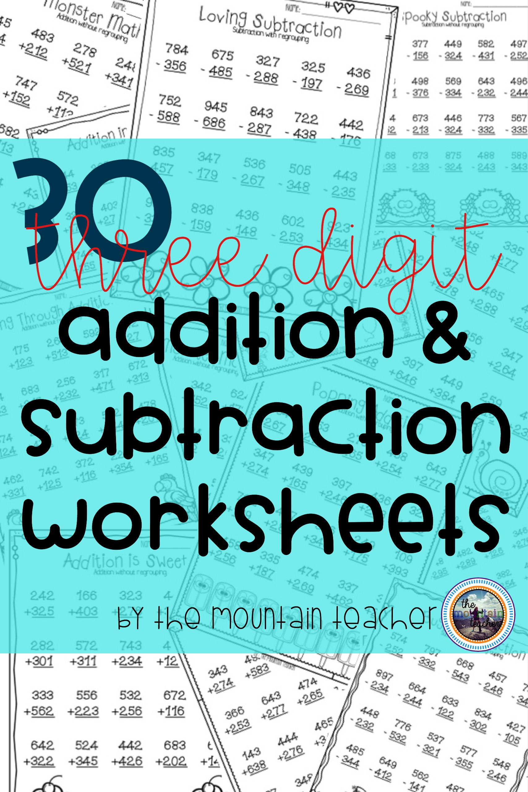 Triple Digit Addition And Subtraction Worksheets With And