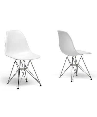 Look At This Zulilyfind White Swoop Side Chair Set Of