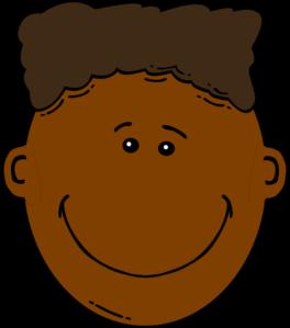 Black Boy With Flattop Clip Art Happy Face Cartoon Dark Skin Clip Art