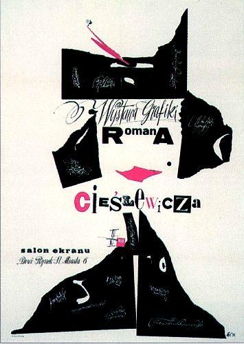 Roman Cieslewicz Exhibition 1959 Theatre PostersMusic