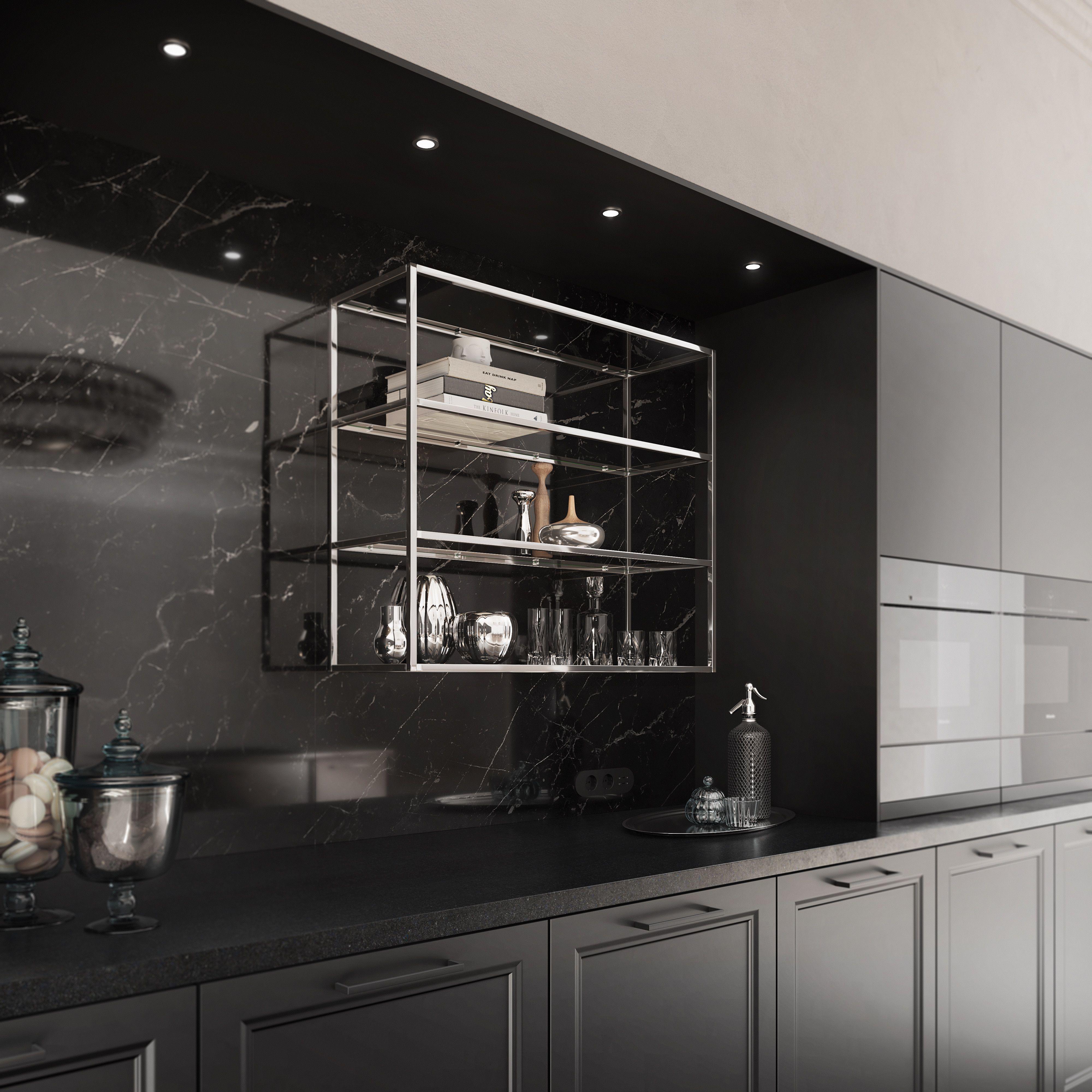 glass metal shelves in 2020   küchen design, küchendesign, küche