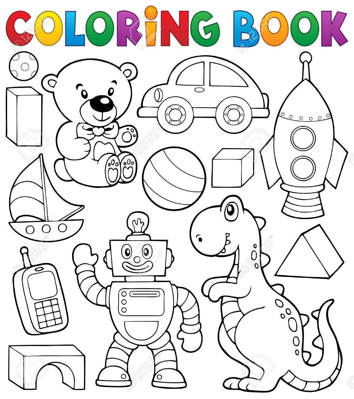Coloring Book With Toys Thematic Affiliate Book