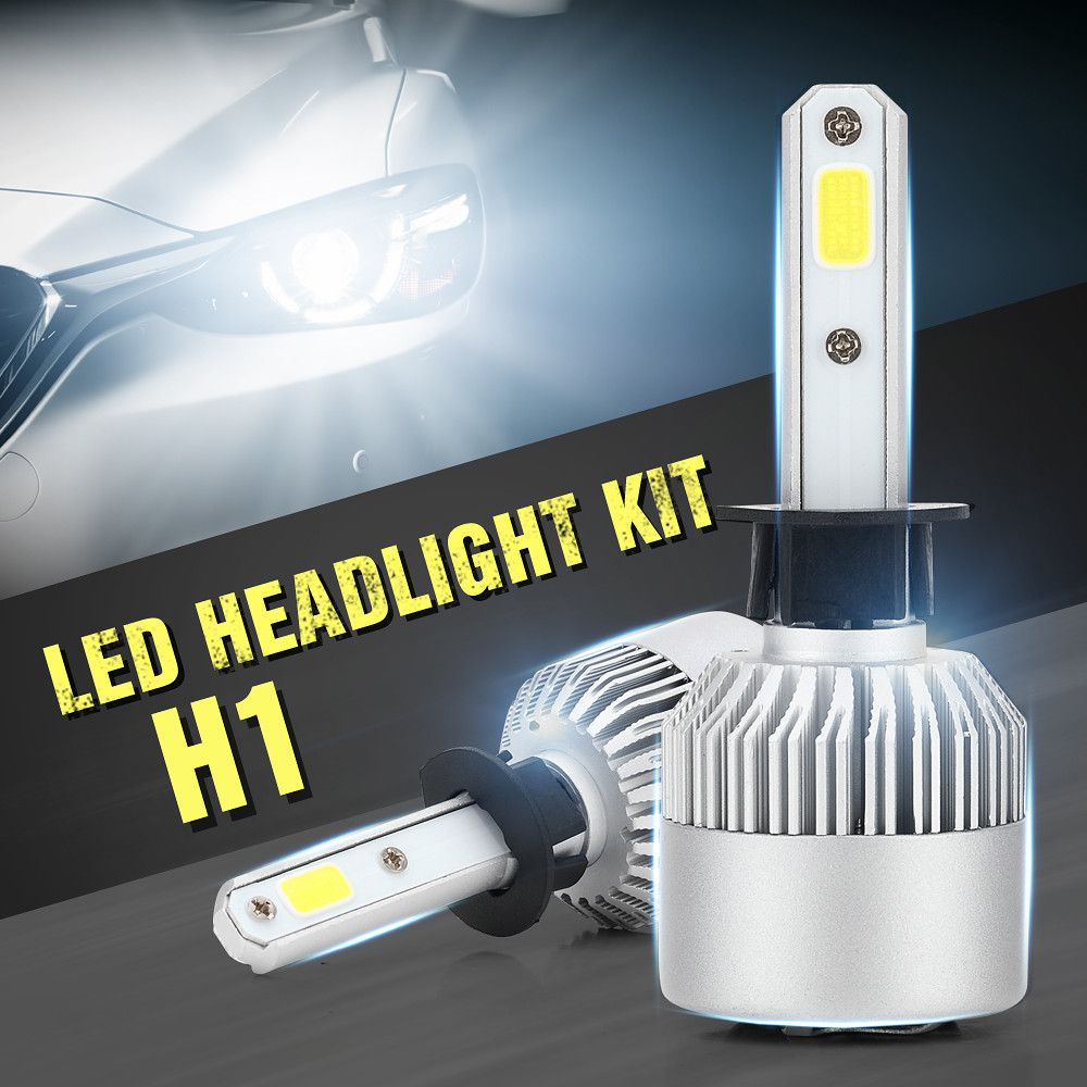 Cross Tiger S2 H1 Led Car Light Cob Upgraded Headlight Bulbs Headlamp 6500k 80w Brightness Hot Sale Led Headlights Cars Led Headlights Car Led Lights