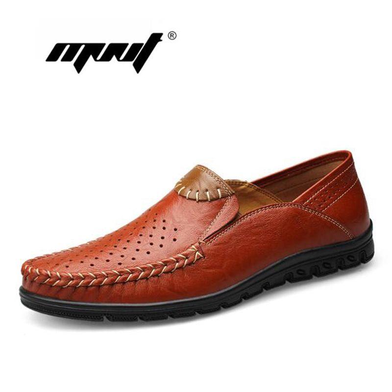 Two Style Genuine Leather Men Shoes, Comfortable Men Flats Shoes, Plus Size Quality Leather Shoes Men Zapatos Hombre