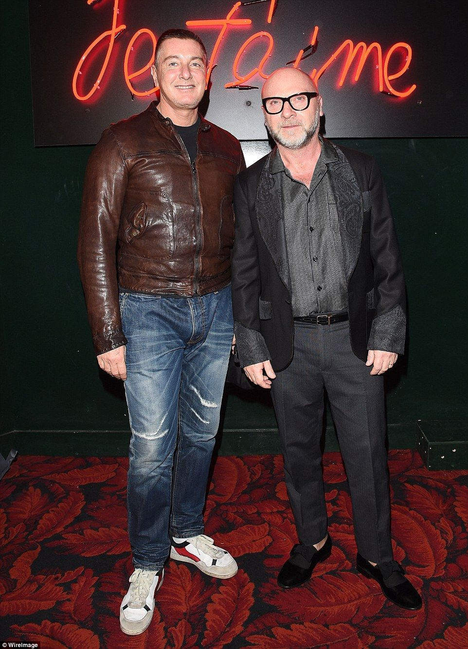 35b29a14816 Two's company: Designer Stefano Gabbana and his professional partner Domenico  Dolce attend 'Paris Je T'aime' party in Paris