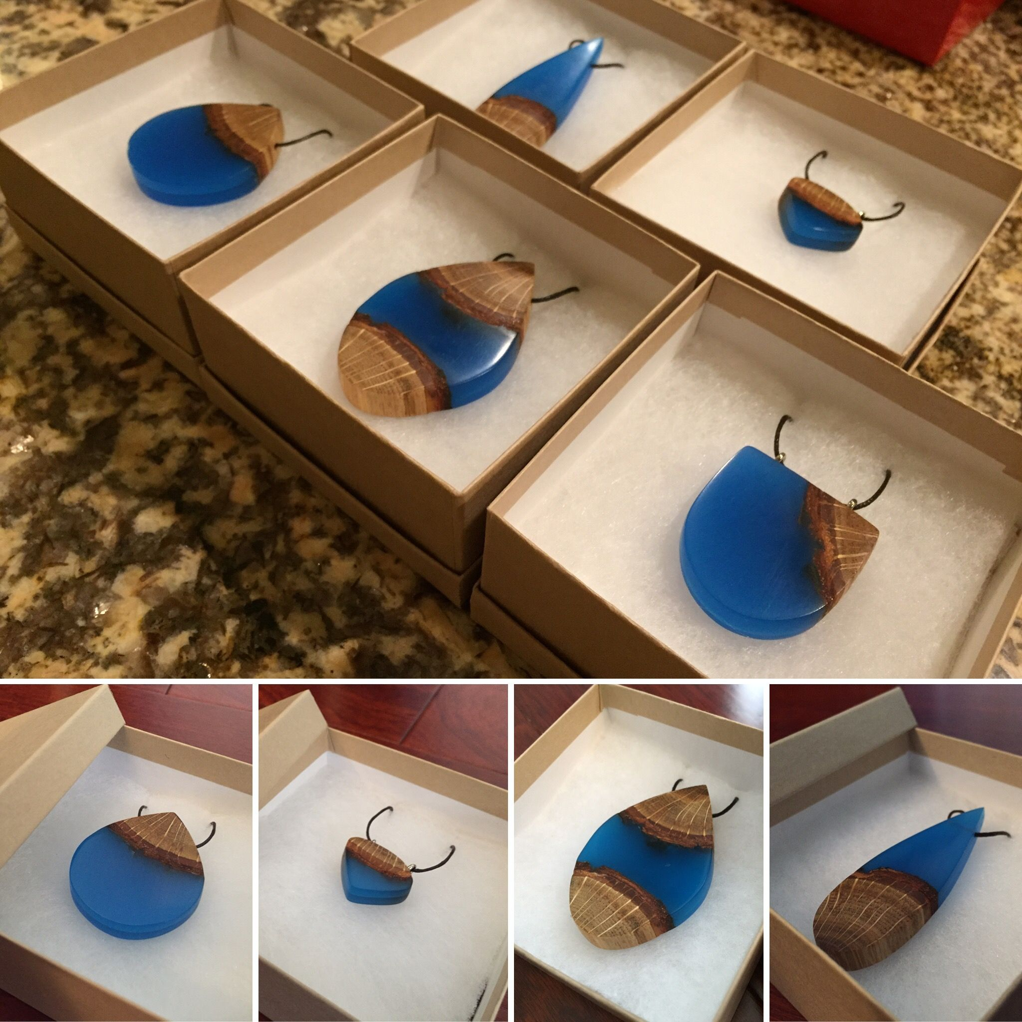 DIY Glowing Wood Resin Jewelry tutorial Tutoriel pour la