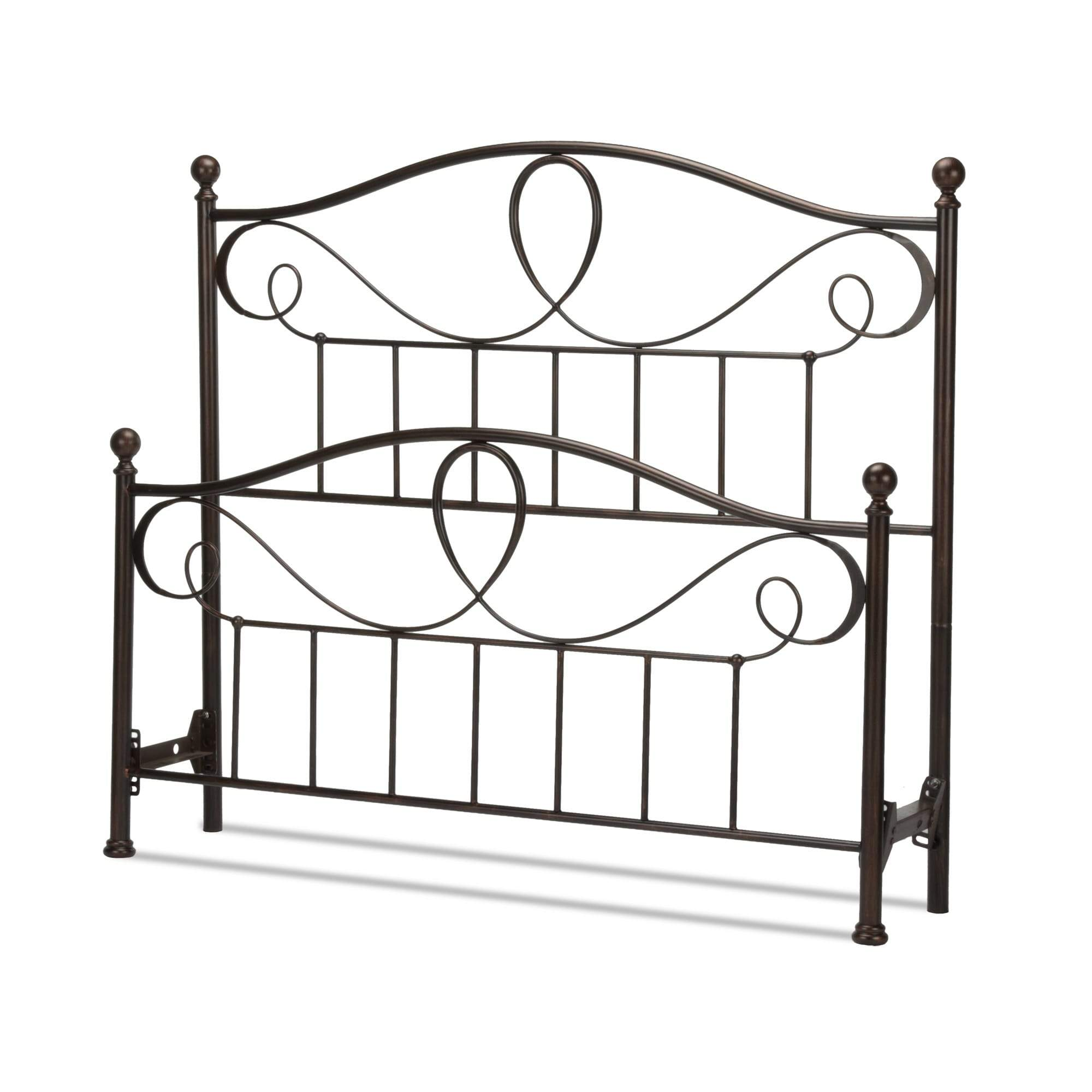Leggett & Platt Sylvania Bed w/ Metal Curved Grill Design