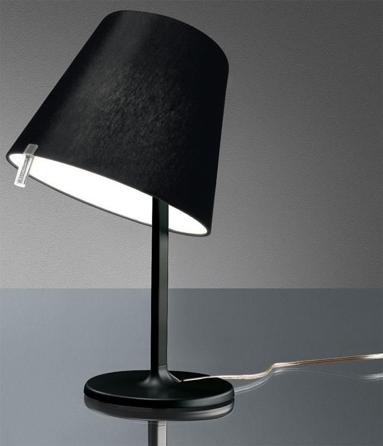 Artemide Melampo Notte Black Product Data Sheet Table Lamp Lamp Modern Table Lamp