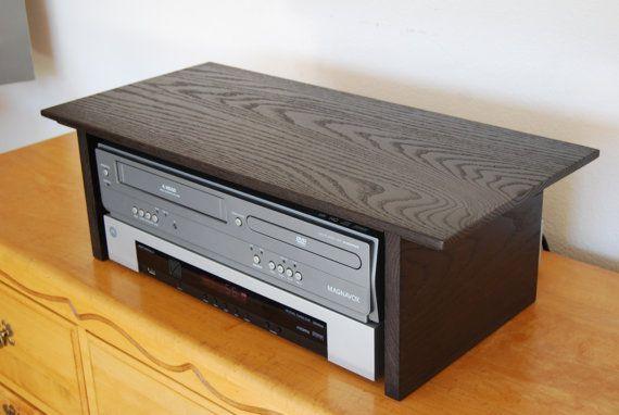 Dresser Tv Stand Solid Oak Dvd Cable Speaker Box Shelf Wood Riser