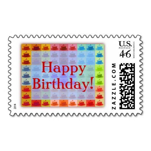 Pop Art Cake Postage Stamps