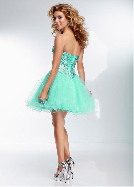 Stunning Tulle Sweetheart Neckline Short A-line Homecoming Dress ...