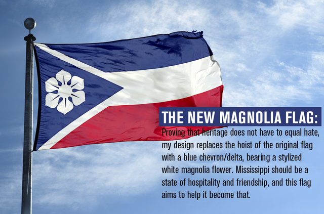 The New Magnolia Flag Mississippi Proposal Vexillology In 2020 Mississippi Flag Flag Flag Design