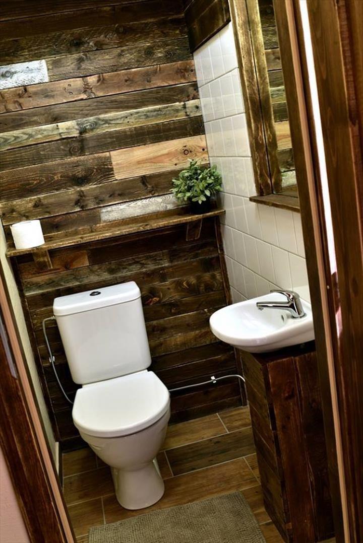 decoración con palets ideas Pinterest Small bathrooms