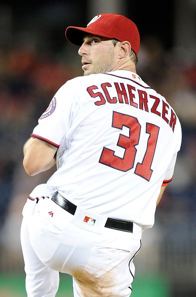 f0daa728 Max Scherzer of the Washington Nationals pitches against the Cleveland  Indians…