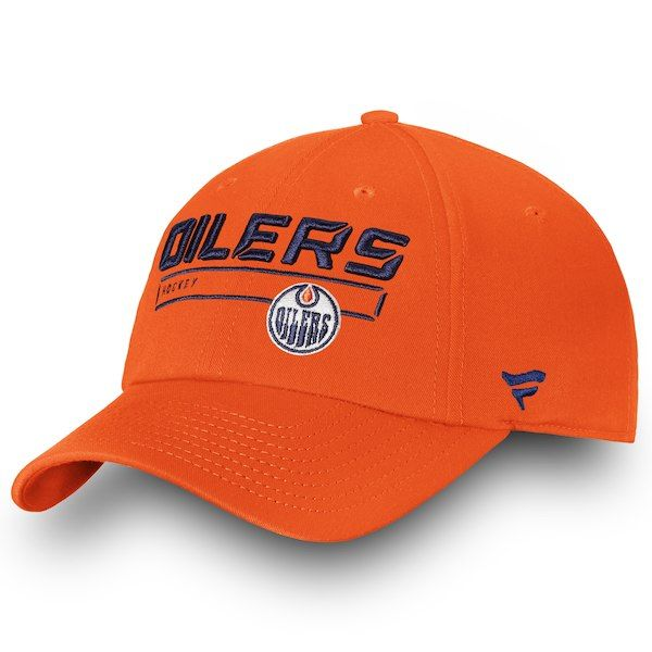 Men s Edmonton Oilers Fanatics Branded Orange Authentic Pro Rinkside  Fundamental - Adjustable Hat 1bdb0ce6bdf5